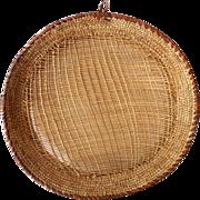 Large Vintage American Indian Winnowing Tray Basket
