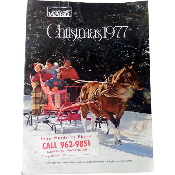 1977 Montgomery Ward Christmas Catalog TOYS! Polyester!