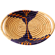 Hand Made American Indian Basket Tray