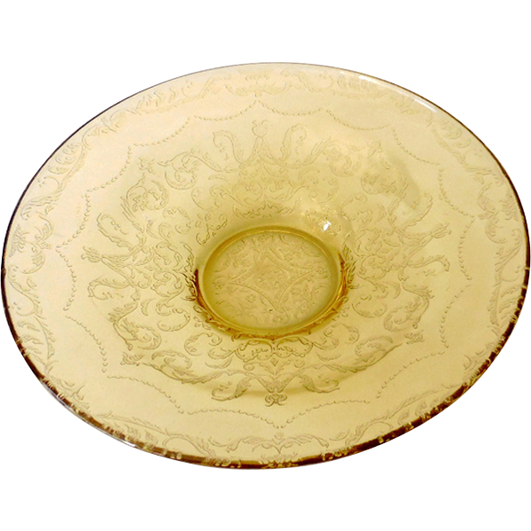 Large  Federal Madrid Yellow Depression Glass Bowl