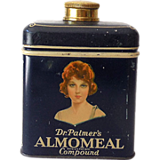 1920s Almomeal Compound Beauty Cleanser Talc Tin