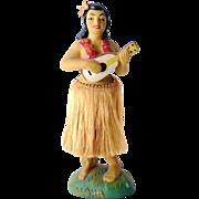 Aloha! Vintage Hawaiian Hula Girl Nodder Waist Bobber