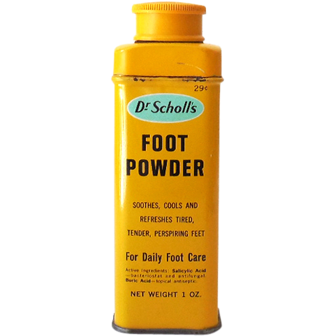 Small Vintage Dr Scholl's Foot Powder Tin