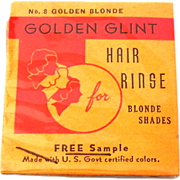Unusual Vintage Hair Rinse Hair Tint Sample