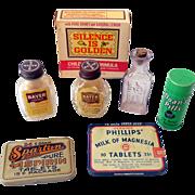 Lot of 7 Vinatge Pharmacy Medicine Items