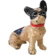 Hubley Cast Iron French Bull Dog Paper Weight