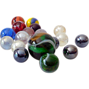 18 Vintage Glass Marbles