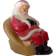 Vintage Advertising Metal Bank Sleeping Santa Claus
