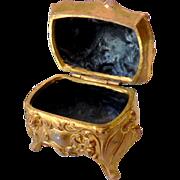 Lovely Casket Style Victorian Ring Box Dresser Box