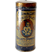 Scarce 1898 Mennen's Baby Powder Talcum Powder Tin