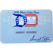 1976 Disneyland Main Gate Pass
