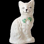 Belleek Whimsical Cat Figurine Made in Ireland