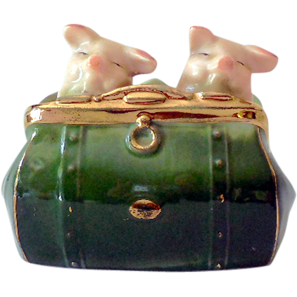 Antique Pink Pigs Figurine  Germany Fairing