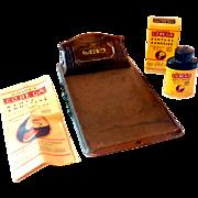 Corega Dentist Advertising Clipboard & Sample Tin Mint In Box