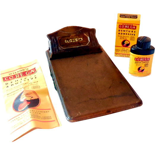Corega Dentist Advertising Clipboard & Sample Tin Mint In Box