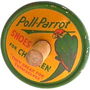 Poll Parrot Children's Shoes Tin Litho Advertising Spinning Top