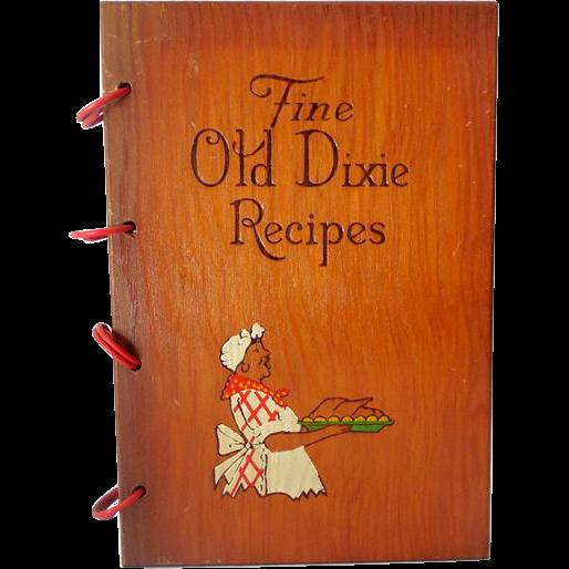 Wood Cover Cookbook ~ Black americana cookbook wood covers sold on ruby lane