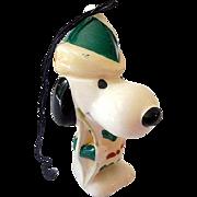 Scarce 1960s Ceramic Snoopy Robin Hood Ornament Japan