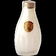 Rare 1920s Art Nouveau Frosted Talcum Powder Bottle