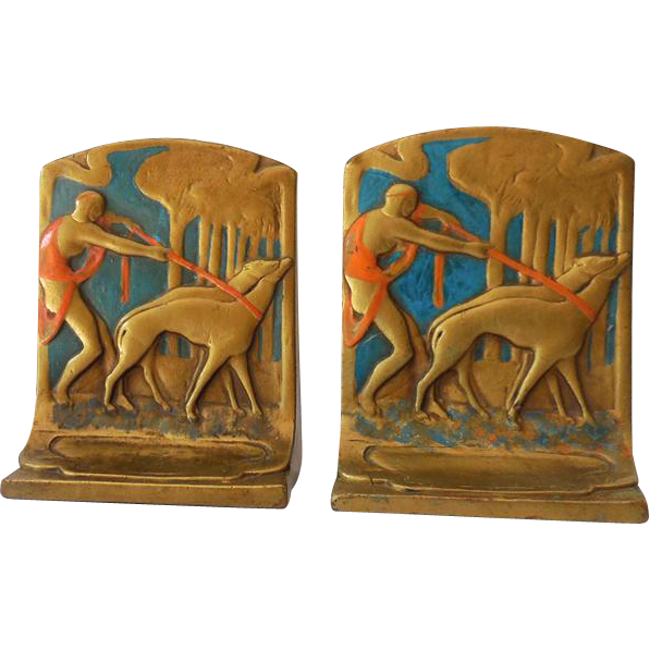 Rare and Fabulous Art Deco Art Nouveau  Bookends