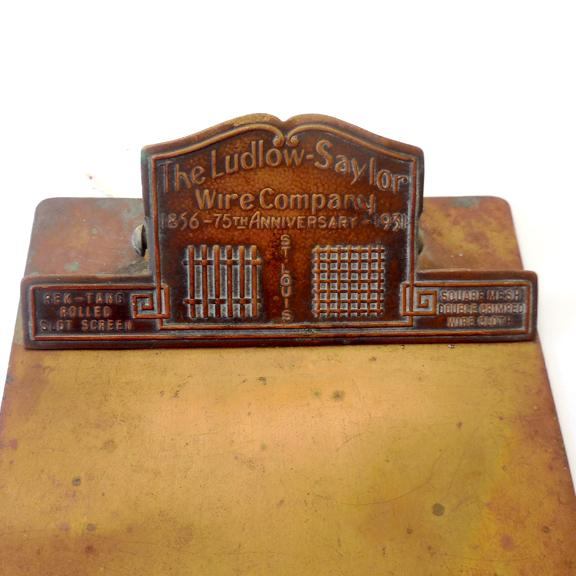 Small metal advertising clipboard 1931 from rubylane sold on ruby lane - Small tin girl ...