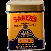 1950s Spice Tin C.F. Sauer's Celery Seed