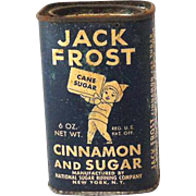 Rare 1930s-40s Spice Tin Jack Frost Cinnamon and Sugar