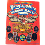 LARGE Ringling Bros Circus Program/Souvenir Book 100th Anniversary 1970