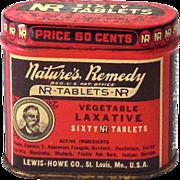Vintage Tin Nature's Remedy Laxative Nice Graphics