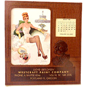 1948 Esquire Pin Up Girl Advertising Desk Calendar Salesmans Sample