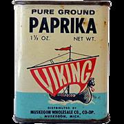 1940s-50 Viking Tin Litho Paprika Spice Tin