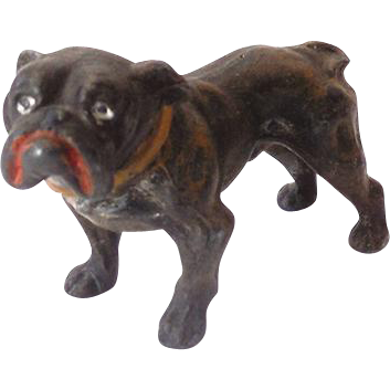 Small vintage metal bull dog california girls ruby lane - Small tin girl ...