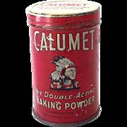 Vintage Calumet Baking Powder Tin Great Graphics Indian Chief