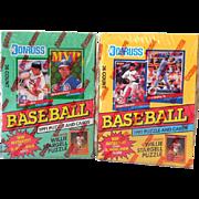(2) Sealed Boxes1991 Donruss Baseball Cards Series 1&2