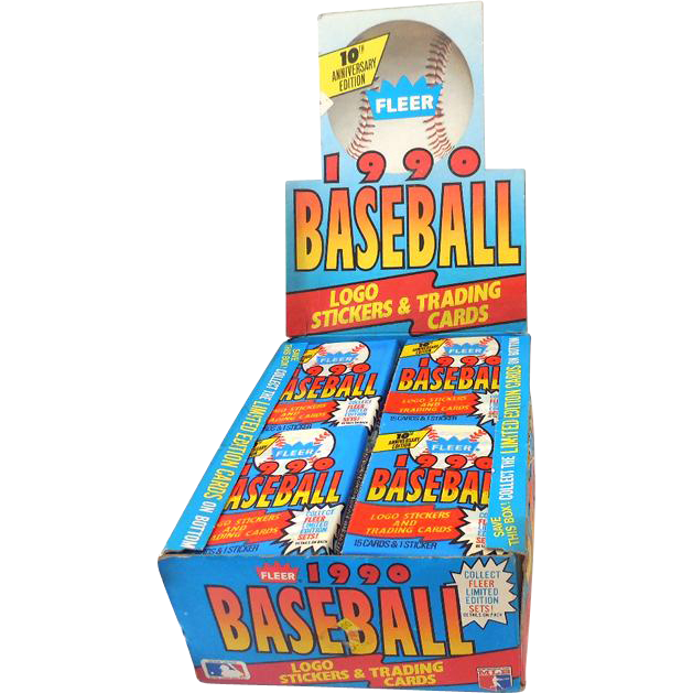 1990 Fleer Baseball Wax Box 36 Factory Sealed Packs