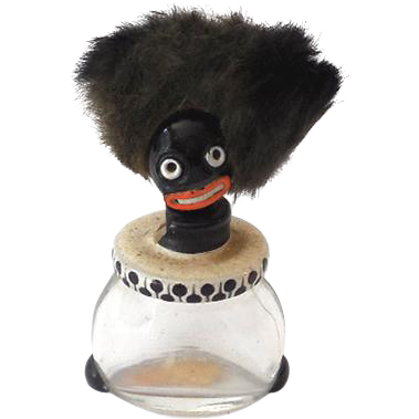 1920s VIGNY French Black Americana Mini Golliwogg Perfume Bottle