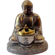 Vintage Metal Sitting Buddha Incense Burner