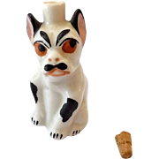 German Sitzendorf Miniature Perfume Bottle Angry Dog