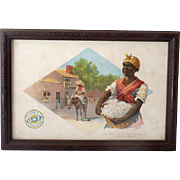 1890's Advertising Trade Card Black Americana Clark's Thread Cotton Picker