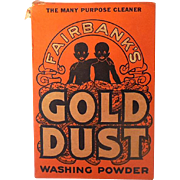 Large Size 1930s Gold Dust Washing Powder Black Americana