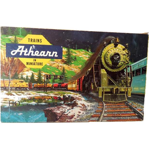 1950s Athearn HO Scale Santa Fe Freight Train Set in Original Box  11 Cars