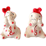 Signed Van Tellingen Peek-A-Boo Salt & Pepper Shakers