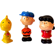 (3) Vintage Composition Peanuts Gang Bobble Head Nodders