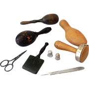 Group of Vintage Sewing and Darning Items