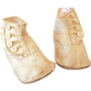 Pair of Button Up High Top Victorian Baby Shoes
