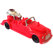 1950s-60 Hubley Kiddietoy Bright Red Toy Fire Truck