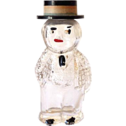 Vintage Figural Perfume Bottle Well Dressed Man in Top Hat