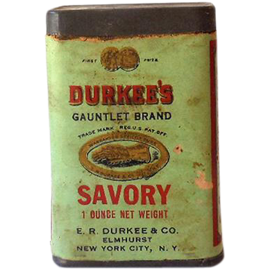 Early 1900s Durkee's Savory Spice Tin