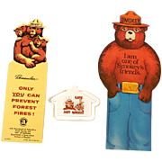 (3) Vintage Smokey Bear Items