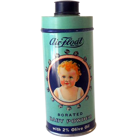 Tin Lithograph Air Float Baby Powder Talcum Powder Tin *MINT*